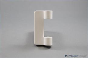 Abdeckkappe Faltband kurz weiß