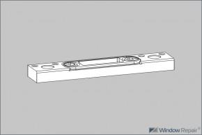 Schließplatte 18x8 vstb. für Kantriegel