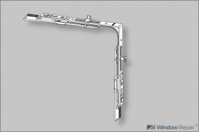 Eckumlenkung für Spaltlüftung NL9mm links