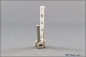 Ecklager PVC 3mm Zapfen weiß