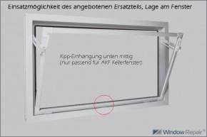 Kipp-Einhängung unten mitte, weiß
