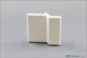 Balkontürgriff flächenversetzt weiß