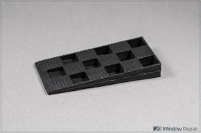 Montagekeile 95x45x15 schwarz