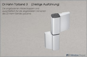 Bandkappe 2-tlg. Türband 3 BU (ca.28x28mm)