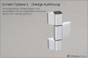 Bandkappe 3-teiliges Türband 3  (ca.28x28mm)